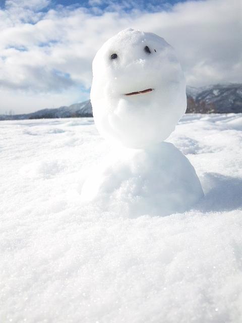 2014 平野部初積雪 初雪だるま