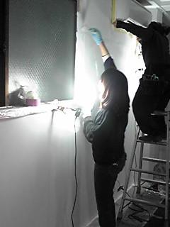 店舗壁塗り