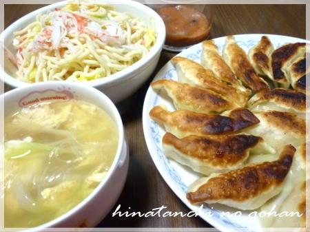201201114餃子、春雨スープ