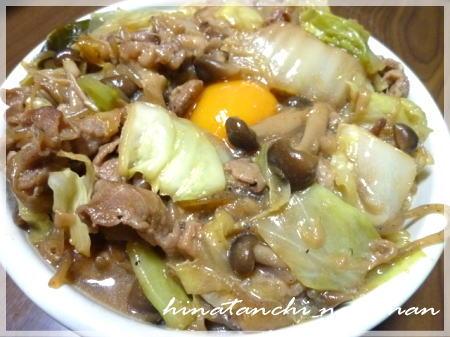20120126すき焼き丼