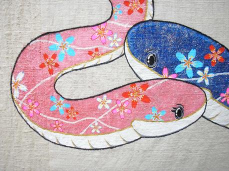 2013.1.28のれん 蛇2