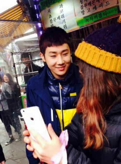 131216 SungGyu filming Running Man 7