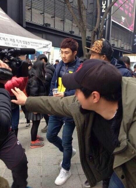 131216 SungGyu filming Running Man 6