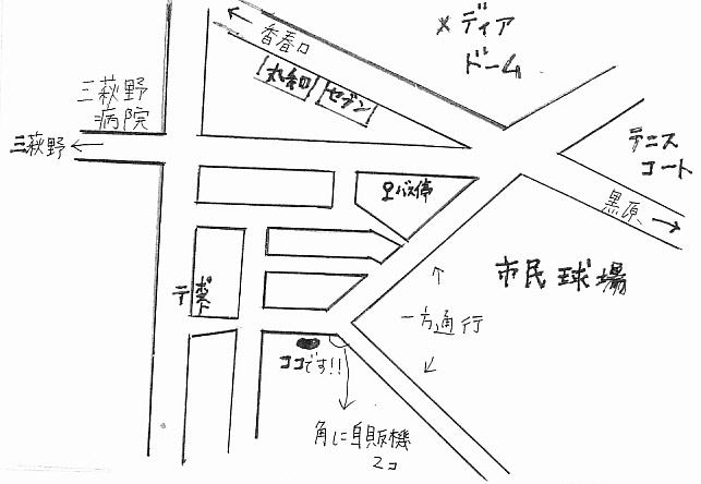 「one wish」周辺地図