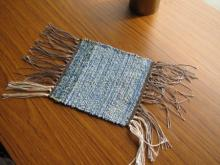 手織りコースター (2)