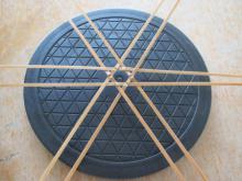 体験●竹かご編み の花器 (1)
