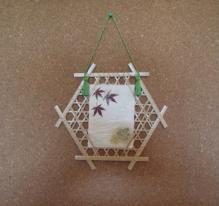 竹の葉書額 (4)