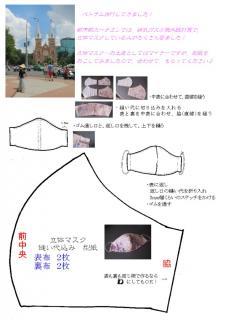 0604 (1) ベトナム 立体マスク ハゥツゥ