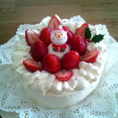 【X'masデコレーションケーキ 5号】 サンタあり ver