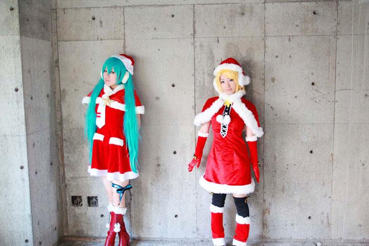 VOCALOID/初音ミク・鏡音リン/DIVAクリスマスモジュール/コスプレ写真