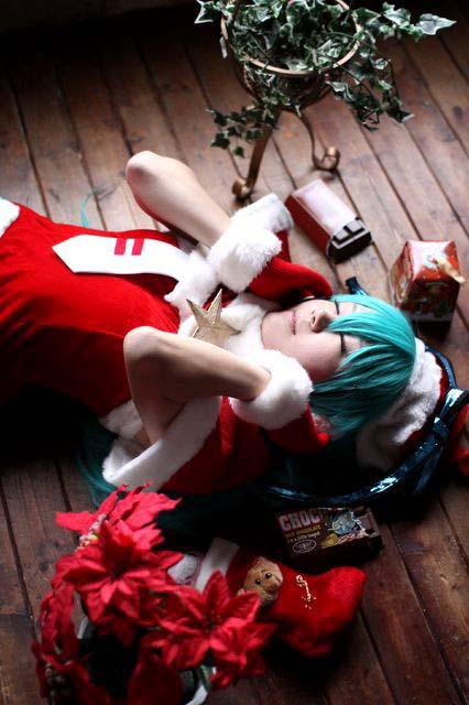 VOCALOID/初音ミク/DIVAクリスマスモジュール/コスプレ写真