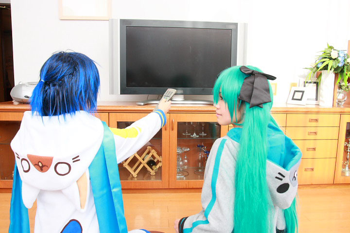 VOCALOID/初音ミク&KAITO/ うちのKAITOとミクが部屋着でまったりしていたのですが/コスプレ写真