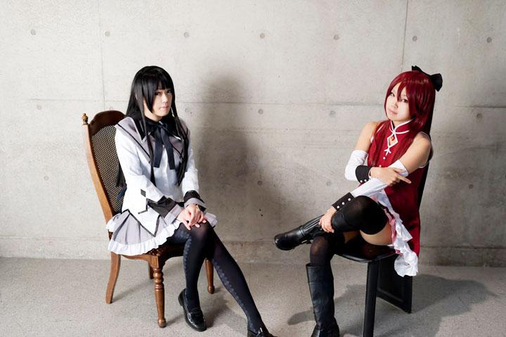 魔法少女まどか☆マギカ/ほむら&杏子/コスプレ写真