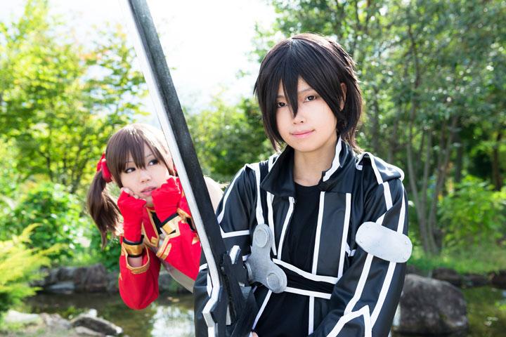 SAO/キリト&シリカ/コスプレ写真