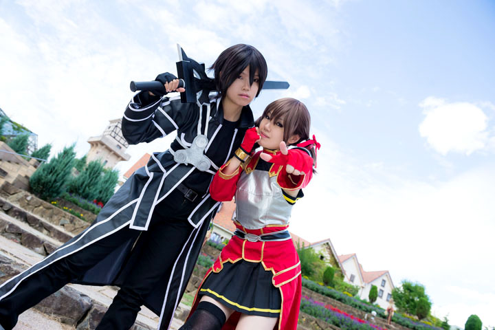 SAO/キリト&シリカ/