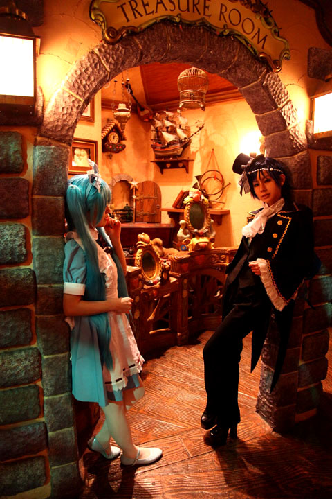 VOCALOID/初音ミク&KAITO/Alice in Musicland/Cosplay
