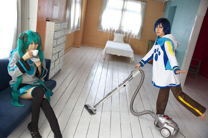 VOCALOID/KAITO&初音ミク/うちのKAITOとミクが部屋着でまったりしていたのですが