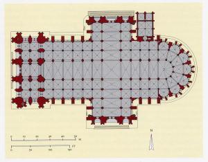ケルン大聖堂の平面図