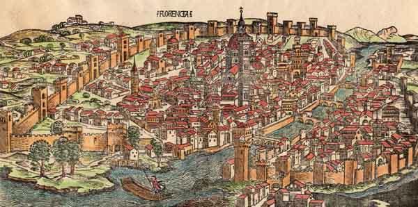 フィレンツェの古地図