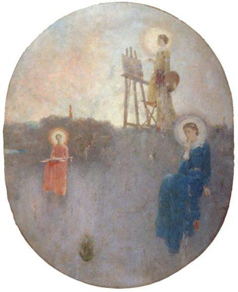 天井画-絵画、音楽、詩歌