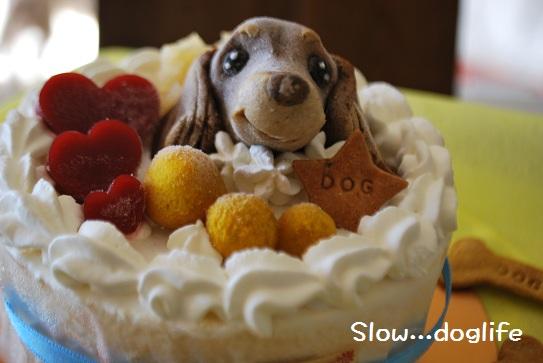 ケーキのムース顔アップ