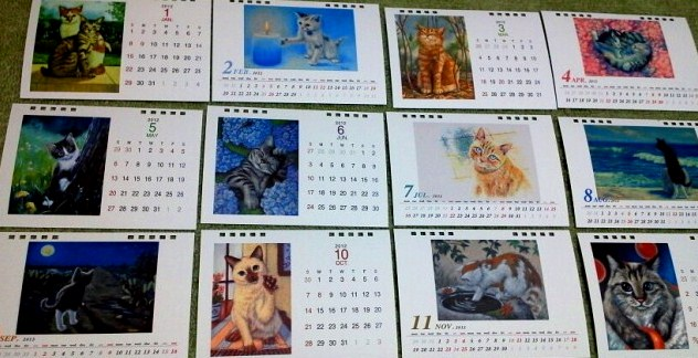 2012 calendar finished