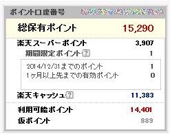 楽天ポイント2014-12-1