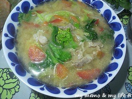 12-12★ 超美肌な、はと麦野菜味噌スープ