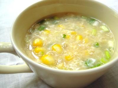 もろこしともちきびのスープ