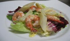 ホワイトアスパラガスとエビのサラダ