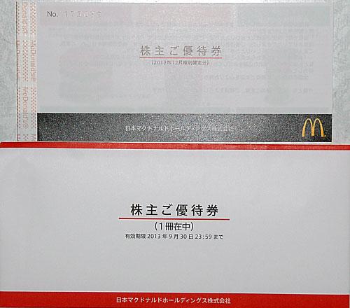 日本マクドナルド株主優待3