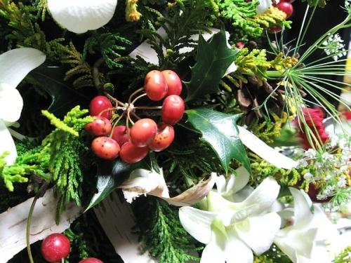 クリスマスツリー_花材4