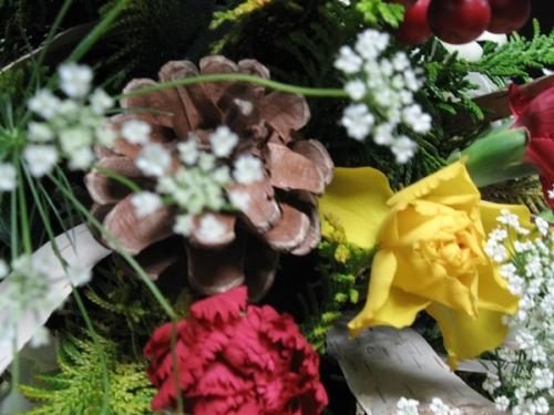 クリスマスツリー_花材5