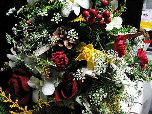 クリスマスツリー_花材6