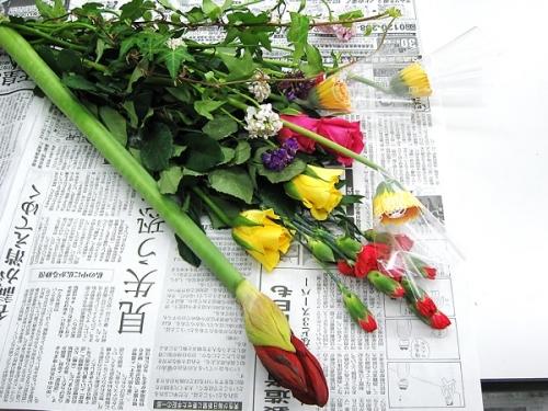 アマリリスのタワーオブジェ_花材