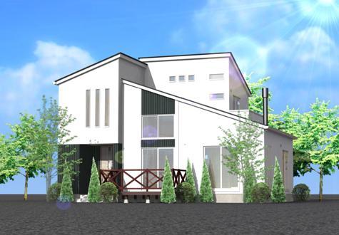 分譲地のモデルハウス