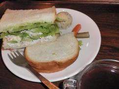 efish ツナとカッテージチーズとアボカドサンド