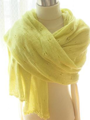 ビーズの縁編みショール1
