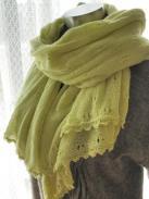 ビーズの縁編みショール2
