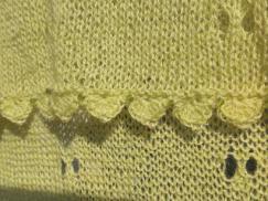 ビーズの縁編みショール3