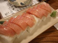 本鱒の棒寿司