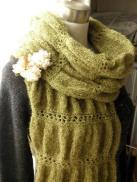 ギャザー編みのショールマフラー04