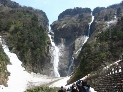 称名滝とハンノキ滝