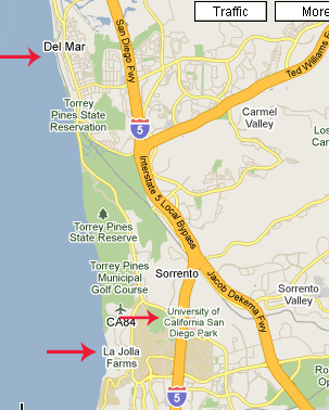 Del Mar-La Jolla map