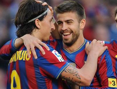 265Barcelona Zlatan Ibrahimovic Gerard Pique2
