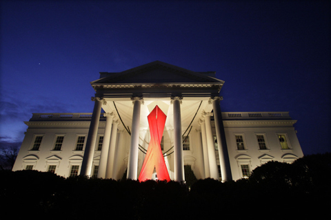 294White House Aids Ribbon