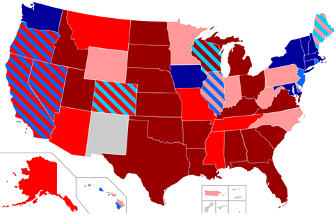 311Gay Marriage Map