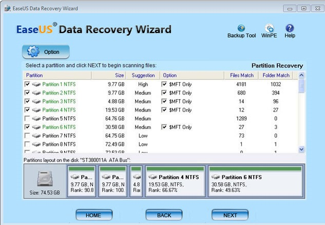 データ復元 EaseUS Data Recovery Wizard Professional10