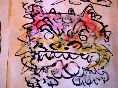2011_01102011益子もえぎ招き猫0158 シーサー