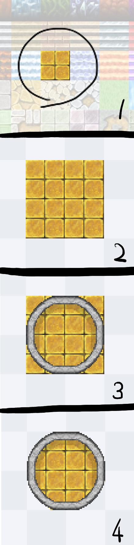 縁石丸作り方